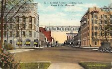 Great Falls Montana~Central Avenue Welcome Banner Light Bulb Sign~Vintage Car~Pc