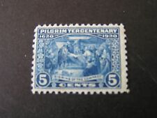 United States, Scott # 550, 5c.Value Blue 1920 Pilgrim Tercentenary Issue Mnh