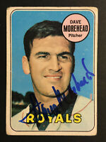 Dave Morehead Royals signed 1969 Topps baseball card #29 Auto Autograph 1