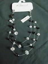 KIM ROGERS BLACK AND CRYSTAL JEWELRY