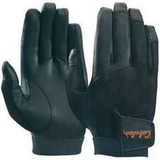 New Cabela's Black Leather Palm Mesh Back Shooting Gloves Lightweight Size  2XL