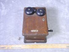 Western Electric Hand Crank Ringer Oak Box 22A 3 Bar Magneto Generator Antique