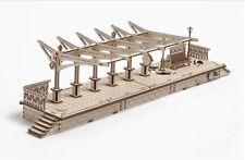 """Mechanical UGEARS wooden 3D Model """"RAILWAY PLATFORM"""" Construction Set"""
