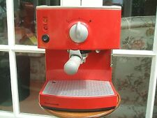 Morphy Richards 47509 Memphis Red Pump Espresso Coffee Maker