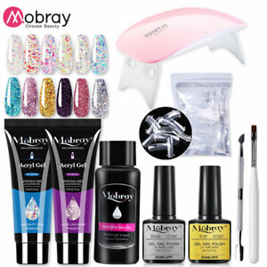 Poly UV Gel Nail Kit Lamp Gel Polish Set All for Manicure Nails Art Poly