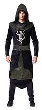 Médiéval & gothique dark #PRINCE noir à capuche peignoir robe de fantaisie adulte costume