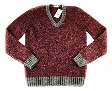 Men's COUNTRY CLUB Red Alpaca Wool Pullover Jumper V-Neck Sweater 50 M / L NWT