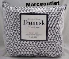 Charter Club Damask Designs Brushstroke 550 Thread Count QUEEN Sheet Set Navy
