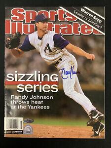 Randy Johnson Signed Sports Illustrated 11/5/01 No Label Baseball Auto Steiner