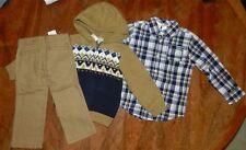Sweater Pant 3pc Set Gymboree Cotton Toddler Boy size 2T New