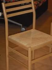 Sedie nr. 4 in legno sedile impagliato - NUOVE