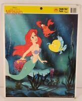 Disney Little Mermaid Frame Tray Puzzle Golden Kids Collectible #4049B Complete