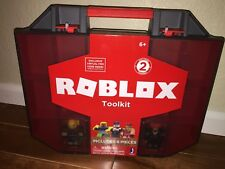 NEW ROBLOX TOOLKIT CASE WITH 2 SERIES 2 FIGURES SHIP EVERYDAY