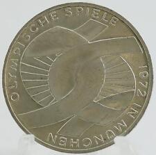 Allemagne 10 Deutsche Mark Pièce Argent Jeux Olympiques Munich 1972D Munich R4