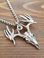Deer Skull Hunting Necklace, Hunting Gifts, Hunting Jewelry, Deer Head Necklace