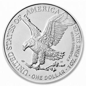 Silver 2021 American Eagle 1 oz. Fine Silver .999 US Mint 1oz Type 2 Design BU