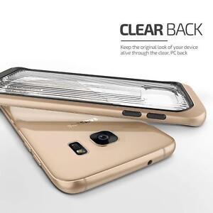 Galaxy S7 Edge Case VRS Design Shine Gold Dynamic Waved Clear Back NEW