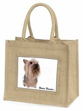Yorkie 'Yours Forever' Sentiment Large Natural Jute Shopping Bag Chri, AD-Y2yBLN