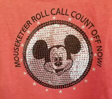 Disney Parks NWOT Mickey Mouse Club Mouseketeer sequins Youth Girls sz XL