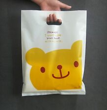 50 pcs bear  Plastic Shopping Gift Bags For Gift Shopping Jewelry Free Shiping