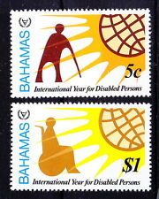 Bahamas MNH 2v, Int. Year of Handicaps, Disabled, Wheel Chair
