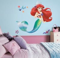 "The LITTLE MERMAID wall sticker MURAL ARIEL 31.5"" tall 21 decals Disney princess"