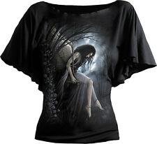 Spiral Direct ANGEL LAMENT  Boatneck Gothic/Fairy/Wing/Girls/Angel/Tee/Dark/Top