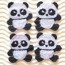 "US SELLER - 10pc x 1.5"" Cotton Crochet Giant Panda Applique for Baby Craft ST88K"
