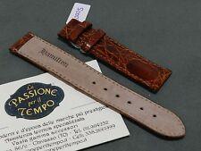 Strap Band Original Hamilton Crocodile Brown New Promozione Cinturino Pelle 18mm