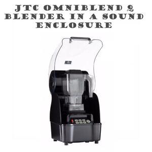 OmniBlend Pro Commercial Blender Set Sound Enclosure Ice Smoothie Milkshake Bar