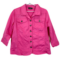 Cordelia St Womens Pink Denim Long Sleeve Lighweight Jacket Size 14