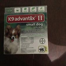 K9 ADVANTIX II FLEA AND TICK CONTROL FOR DOG UNDER 10 LBS - 4 PACK NEW IN BOX