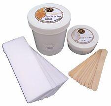 1100gr Pasta di Zucchero Ceretta con talco, Strisce & SPATOLE .100% naturale rimozione peli