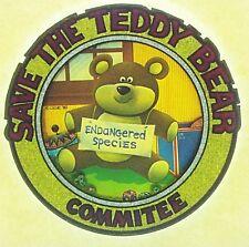 Original Save The Teddy Bear Committee Iron On Transfer *Glitter*