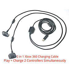2 in1 2M Long USB Charging Charger + Play Cable Lead for Xbox 360 Controller Pad