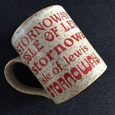 Isle of Lewis Stornoway Scotland Stoneware Mug Cup 8oz Handle Chip Retro Feel