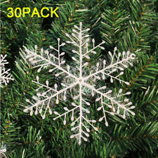 Winter Snowflakes Hanging Window XMAS Christmas Tree Festival Party Decorations
