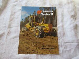 Champion motor grader 730 710 720 740 736 series III brochure