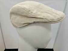 Mens Marks & Spencer Beige 100% Linen Flat Summer Cap Size Medium Charity Sale