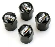 4x Honda Civic Mugen PowerType R Dust Caps Wheel Tyre Valve Sports Car Black