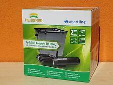 Heissner HLF6000-00 Durchlauffilter Komplett Set,Kombi Pumpe Inkl. 9W UVC
