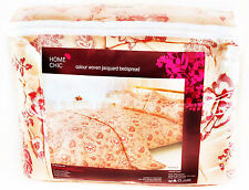 "HOME CHIC ""Valencia"" Colour Woven Jacquard Bedspread. 244cm x 264cm Double. New"