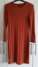 F & F  Dark Orange Jumper Dress Size 12