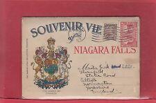 Niagara Falls souvenir folder Confederation issue 2c&3c Canada cover