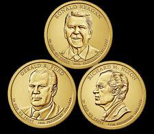 "A 2016 Presidential Dollar THREE (3) Coin Set ""Brilliant Uncirculated"" COINS"