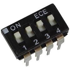 2 ECE eah-104-ez DIP switch 4 PIN IC 24v DC 25ma dil switch RM 2,54 855902