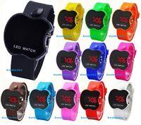Digital LED Apple Shape Wrist Watch Unisex Men Women Kids School Boys Girls UK