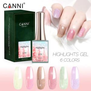 CANNI UV Nail Gel Polish HIGHLIGHTS SERIES Glitter Varnish Soak Off LED 16ML