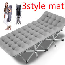 Folding Camping Bed Military 2-Layer Heavy Duty Sleeping Cot W/Carry Bag &matter