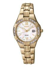 Seiko SUT070P9 Ladies Diamond Set Solar Powered Date Dress Watch RRP £259.00